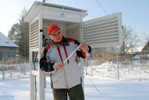 Stanica v Plavči. Štefan Pekár tu zaznamenal teplotu mínus 31,4 stupňa, pri zemi dokonca takmer mínus 38!
