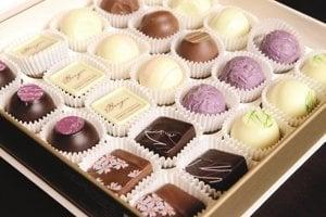 Čokoládu, ktorá sa vyrába v Salzburgu.