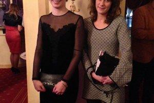 S kolegyňou Katarínou Krejčíkovou.