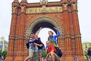 S kamarátmi na potulkách po Barcelone.