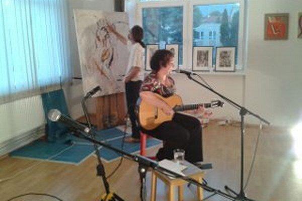 Ria Ferčáková spievala, Rudolf Cigánik maľoval.