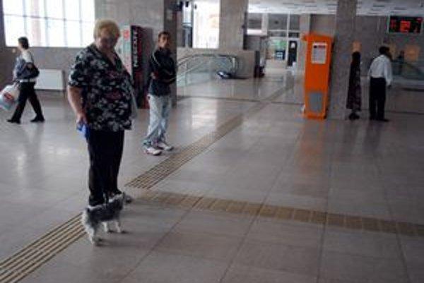 Elena Martinková. Lavičky jej chýbajú.