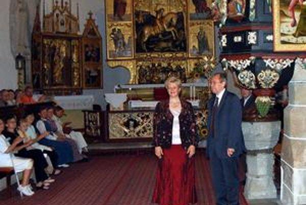 M. Heim a G. Finta. Maďarskú dvojicu doslova nadchol kostol svätého Juraja, a to nielen pre dobrú akustiku.