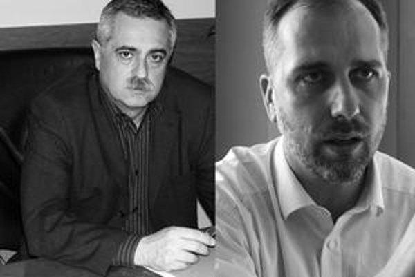 Peter Bizovský, riaditeľ Ľubovnianskej nemocnice a Ján Hencel, riaditeľ EMS i šéf Asociácie poskytovateľov záchrannej zdravotnej služby SR.