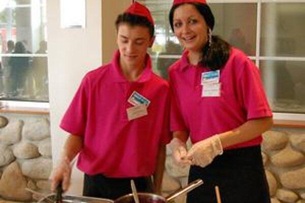 Mirka a Michal. Starili pár bodov za vyčistenie variča, ich palacinky však chutili znamenite.