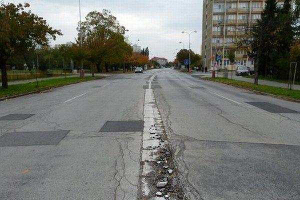 Jednou z ulíc vybraných na rekonštrukciu je Ul. Ľ. Štúra.