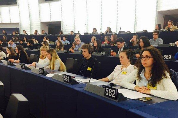 Žiaci levickej školy v europarlamente.