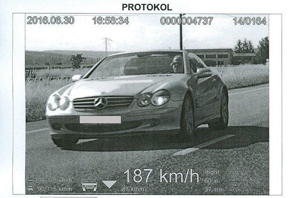 Záznam z policajnej kamery.