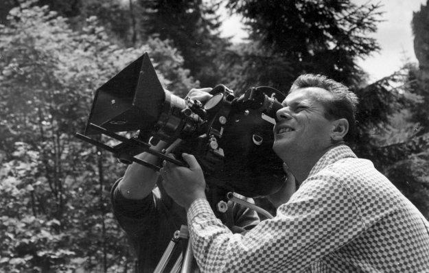 Vladimír Ješina počas nakrúcania filmu Jánošík.