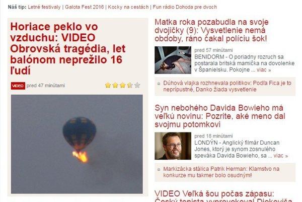Topky.sk screenshot