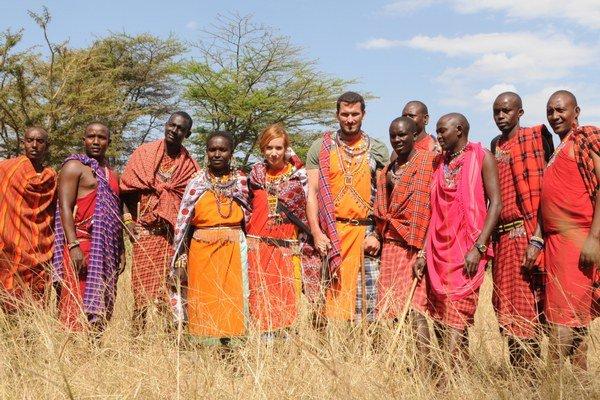Spomienky na Afriku. Táni aj Jankovi sa medzi Masajmi veľmi páčilo.