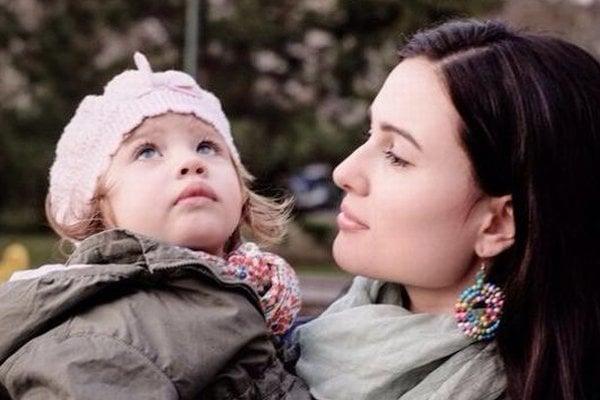 Šarkanove dve najväčšie lásky. Manželka Michaela a dcéra Ela.