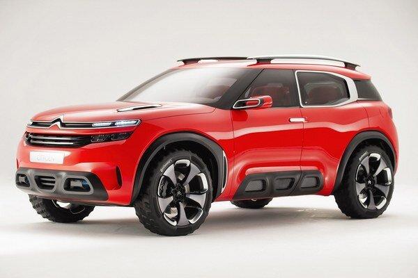 Štúdia Citroën Aircross Concept. Sériový model, odvodený od tejto štúdie, bude v sortimente firmy Citroën nad terajším modelom C4 Cactus.