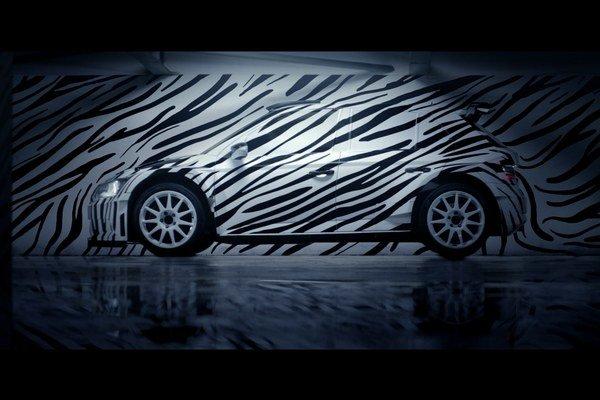 Škoda Fabia R 5 v zebrom dizajne. Snímky súťažnej fabie v zebrom dizajne slávia úspech na sociálnych sieťach, jej živá premiéra bude na výstave Motor Show v Essene.