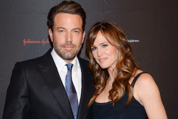 Ben Affleck s manželkou.