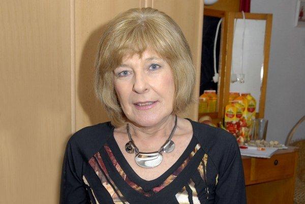 Atraktívna oslávenkyňa. Jubielum chcela Oľga Feldeková zatajiť, no plán jej nevyšiel.