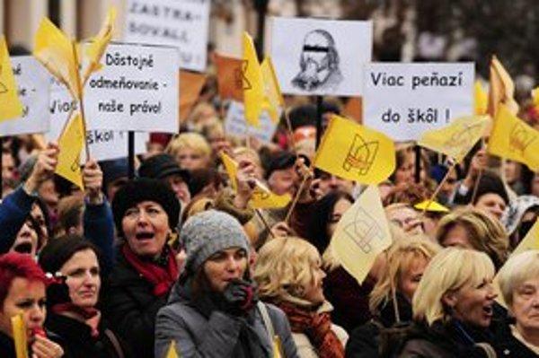 Protestný míting v Košiciach.