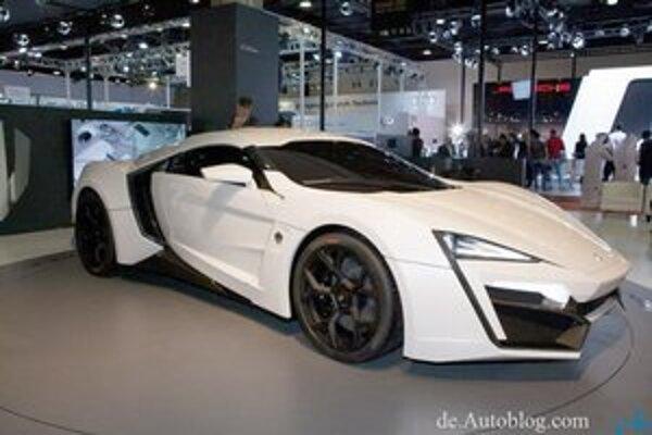 Superšportové kupé Lycan Hypersport. Prvý arabský superšportový automobil mal svetovú premiéru na nedávnom autosalóne v Katare.