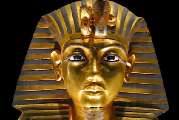 Tutanchamónová pohrebná maska.