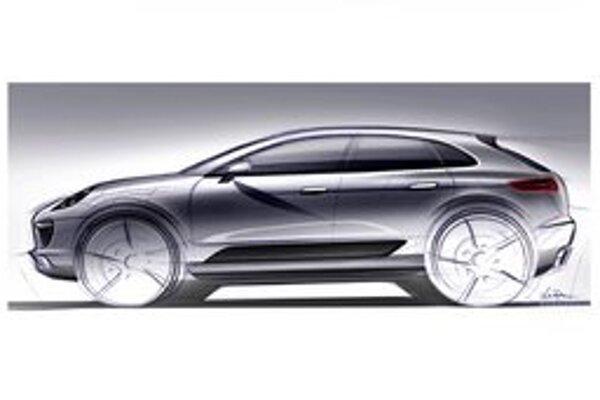 Skica nového modelu Porsche Mazan. Mazan je športovo-úžitkové vozidlo, ktoré firma Porsche začne vyrábať v roku 2013.