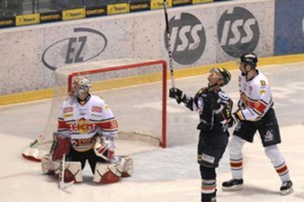 Rekordér. Jaroslav Kristek sa teší po strelení svojho prvého z piatich gólov v zápase proti Zvolenu.