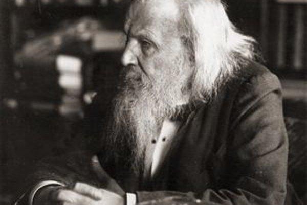 Dmitrij Ivanovič Mendelejev. Je autorom periodickej tabuľky chemických prvkov.