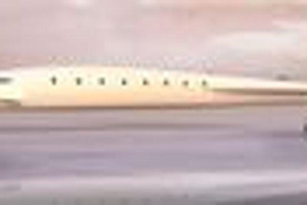 Kresba lietadla SonicStar. SonicStar je bizjet pre 10 až 20 cestujúcich a mal by lietať rýchlosťou M3,5.