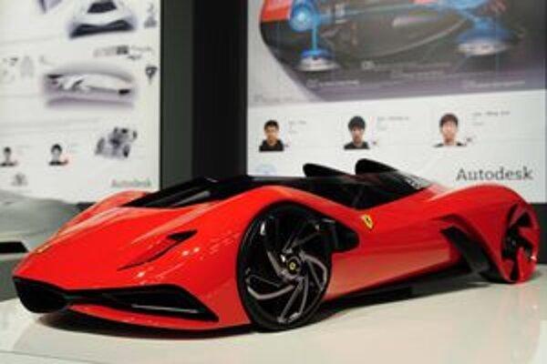 Víťazný návrh súťaže Ferrari World Design. Takto by podľa študentov univerzity v juhokórejskom Soule mohlo vyzerať ferrari budúcnosti.