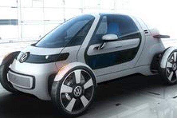 Jednomiestny elektromobil NILS. Na pohon tohto miniautomobilu slúži elektromotor strvalým výkonom 15 kW.