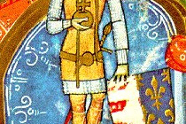 Uhorský kráľ Karol Róbert na dobovej kresbe.