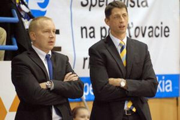 Trénerský tandem. Štefan Svitek a Maroš Kováčik (vľavo).
