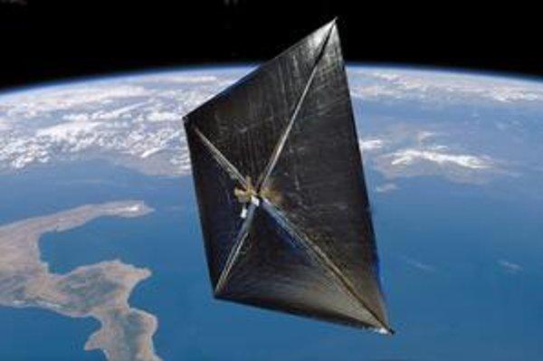 Kresba družice NanoSail-D. Družicu môžeme pri jasnej oblohe v týchto dňoch vidieť prelietavať nad naším územím.