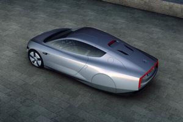 Štúdia Volkswagen XL1. Štúdiu predstavili na prvom autosalóne v emiráte Katar.