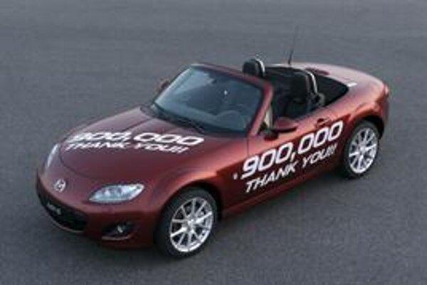 Počtom 900 000 vyrobených kusov sa Mazda MX-5 opäť zapísala do Guinnessovej knihy rekordov.