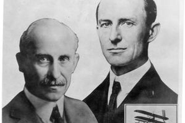 Bratia. Orville (vľavo) a Wilbur sú považovaní za vynálezcov lietadla.