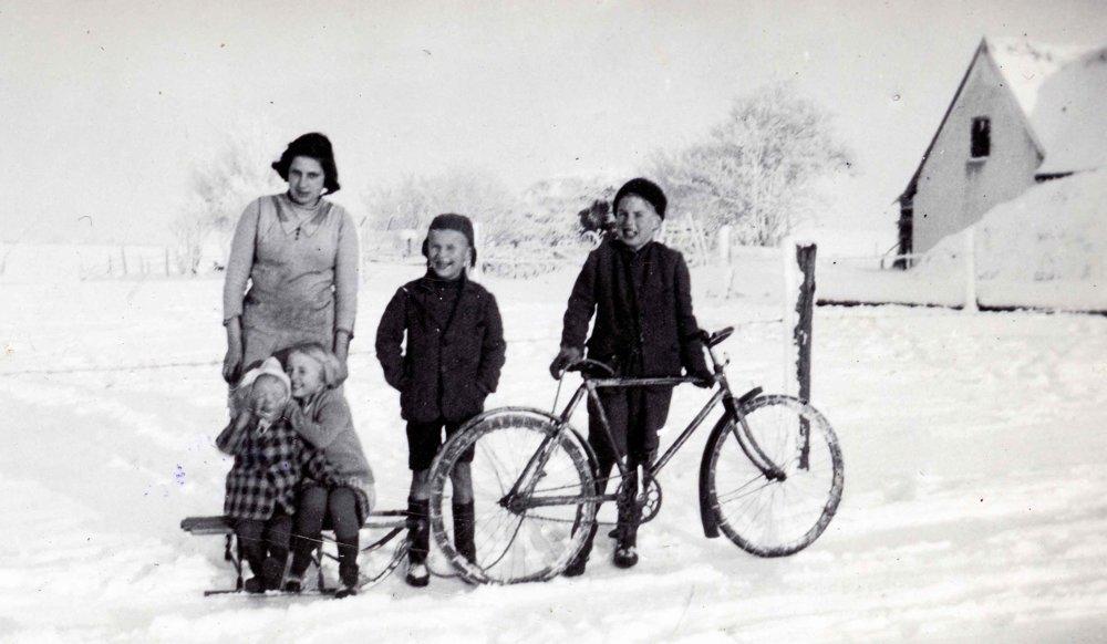 Hanka Dubová v Dánsku. Rok 1940.