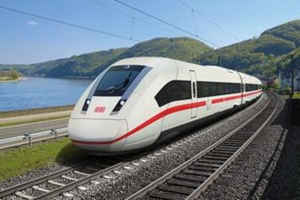 Počítačový obraz súpravy ICx. Nové súpravy budú jazdiť na diaľkových tratiach v Nemecku.