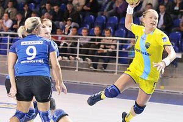 Pivotka Iuventy Lívia Kalaninová. Takto strelila svoj piaty gól.