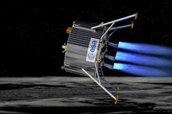 Kresba pristávacieho modulu. Nová sonda ESA by mala v roku 2018 pristáť v okolí mesačného južného pólu.