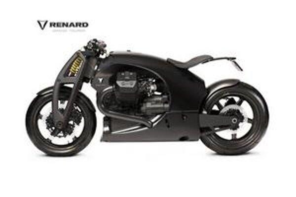 Motocykel Renard GT. Estónsky motocykel Renard GT má rám z uhlíkových kompozitov.