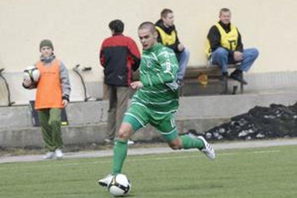 Dvojgólový. Dávid Leško z tímu prešovských juniorov dvoma gólmi rozhodol o výhre svojho tímu nad rezervou Žiliny.