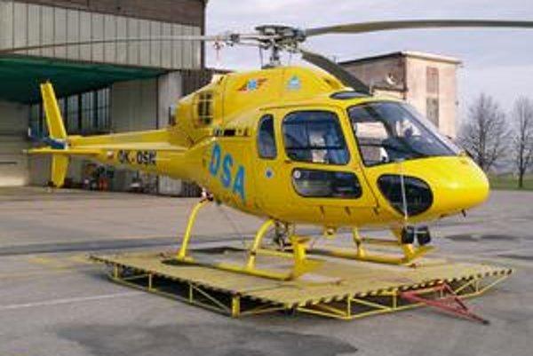 Záchranný vrtuľník AS355 N Ecureuil alias veverička. V súčasnosti má tento vrtuľník základňu na košickom medzinárodnom letisku.