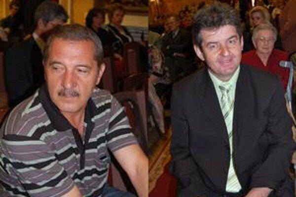 Štefan Pištej, Juraj Potocký (zľava) pomáhajú.