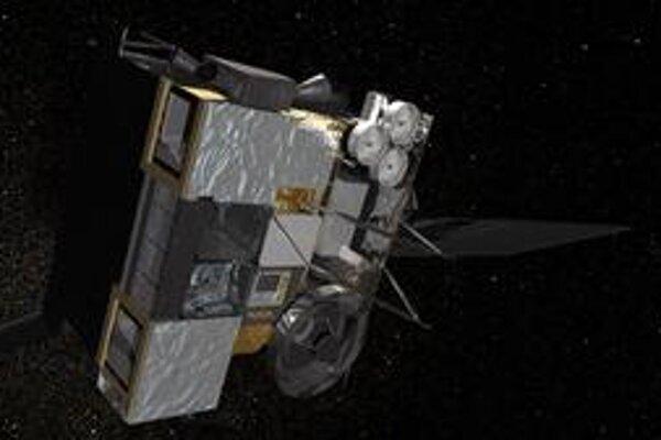 """Kresba družice GOES-O. Družica bude zatiaľ """"odpočívať"""" na svojej obežnej dráhe."""