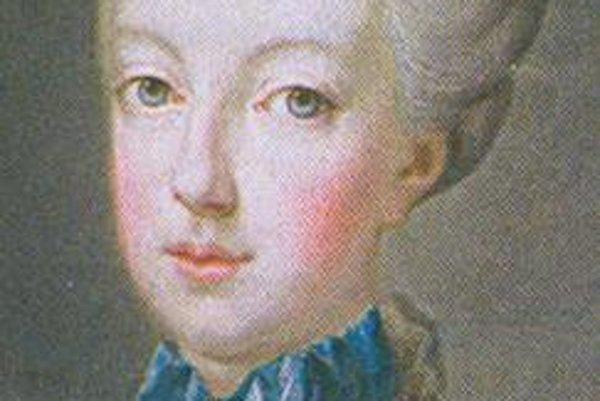 Pätnásťročná. Portrét Márie Antoinetty z obdobia, keď sa vydala za budúceho kráľa Ľudovíta XVI.