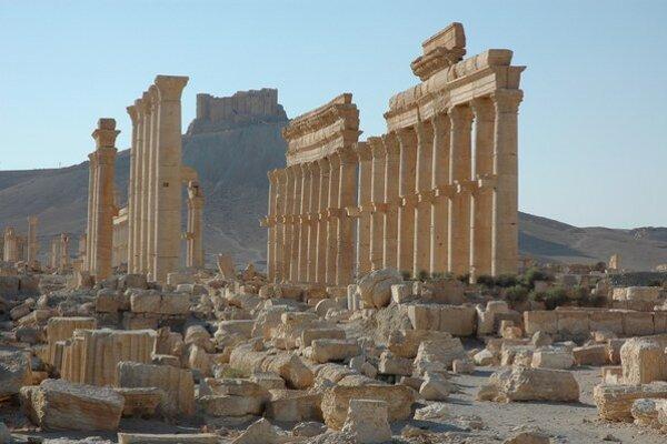 Palmýra v Sýrii.
