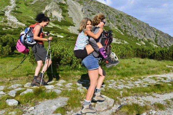 Turisti v Tatrách.