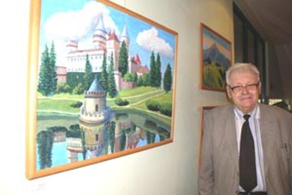 Miloš Souček namaľoval aj bojnický zámok, ktorý ho očeril.