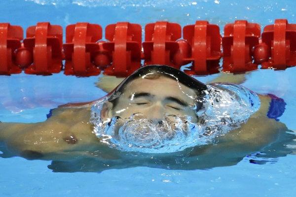 Michael Phelps na olympiáde v Rio de Janeiro.