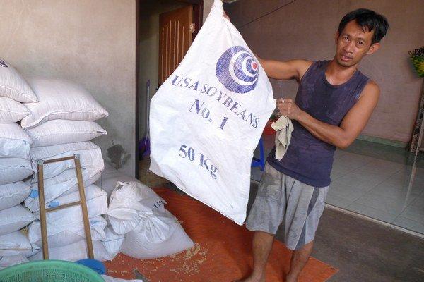 Sója sa do Indonézie dováža zo Spojených štátov.